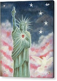 Heart Of Liberty Acrylic Print
