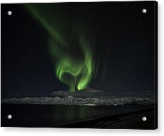 Acrylic Print featuring the photograph Heart Of Northern Lights by Frodi Brinks