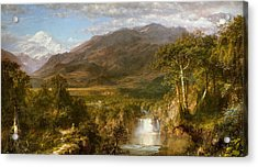Heart Of The Andes Acrylic Print by Frederic Edwin Church