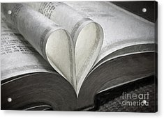 Heart Of The Book  Acrylic Print