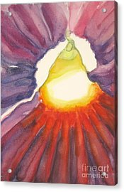 Acrylic Print featuring the painting Heart Of The Flower by Inese Poga