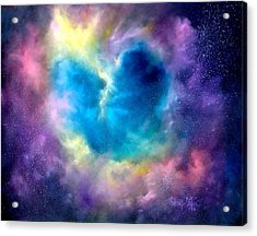 Heart Of The Universe Acrylic Print by Sally Seago