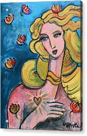 Acrylic Print featuring the painting Heart Of Venus by Laurie Maves ART