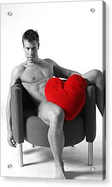 Heart On Acrylic Print by Dan Nelson