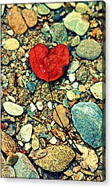 Heart On The Rocks Acrylic Print