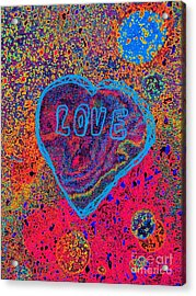 Heart On The Stage Acrylic Print