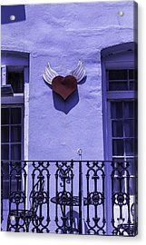 Heart On Wall Acrylic Print by Garry Gay