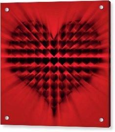 Heart Rays Acrylic Print