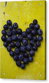 Heart Shaped Blueberries Acrylic Print by Garry Gay