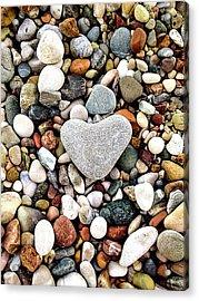Heart-shaped Stone Acrylic Print
