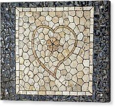 Heart Shaped Traditional Portuguese Pavement Acrylic Print