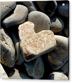 Acrylic Print featuring the photograph Heart Stone by Lainie Wrightson