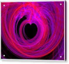 Heart Swirls Acrylic Print