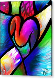 Acrylic Print featuring the digital art Heart Vectors by AC Williams