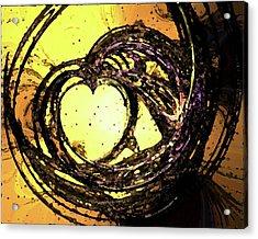 Heart Waves Acrylic Print
