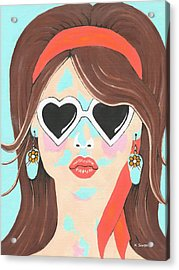 Heartbreaker - Contemporary Woman Art Acrylic Print