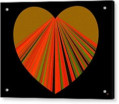 Heartline 5 Acrylic Print by Will Borden