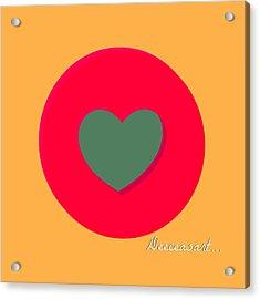 Heart'round Acrylic Print by Hans Tondereau