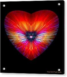 Acrylic Print featuring the digital art Hearts #26 by Visual Artist Frank Bonilla