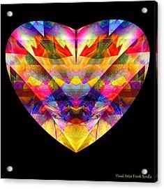 Acrylic Print featuring the digital art Hearts #27 by Visual Artist Frank Bonilla