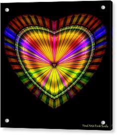 Acrylic Print featuring the digital art Hearts #9 by Visual Artist Frank Bonilla