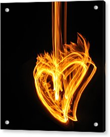 Hearts Aflame -falling In Love Acrylic Print by Mark Fuller