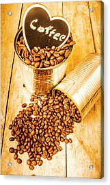 Hearts And Cafe Beans Acrylic Print by Jorgo Photography - Wall Art Gallery