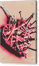 Hearts And Screws Acrylic Print by Jorgo Photography - Wall Art Gallery