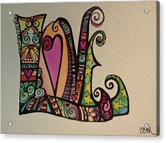 Hearts Acrylic Print by Claudia Cole Meek