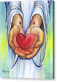 Acrylic Print featuring the painting Heart's Desire by Nancy Cupp