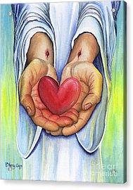 Heart's Desire Acrylic Print by Nancy Cupp