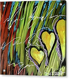 Hearts In The Grass Acrylic Print