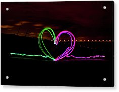 Hearts In The Night Acrylic Print