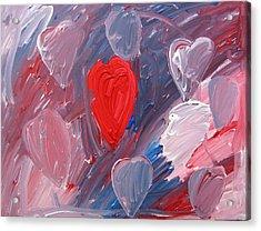 Hearts Acrylic Print by Kiely Holden