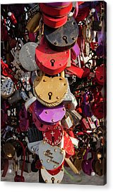 Hearts Locked In Love Acrylic Print