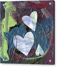 Hearts Acrylic Print by Michelle Dooley and Kaya Paxman