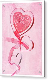 Acrylic Print featuring the photograph Hearts by Rebecca Cozart