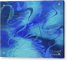 Heartsong Blue 1 Acrylic Print
