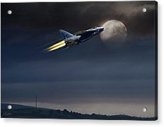 Acrylic Print featuring the digital art Heat Of The Night by Peter Chilelli