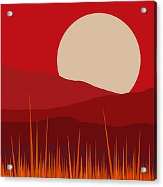 Heat - Red Sky  Acrylic Print