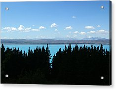 Heaven Blue Acrylic Print by Jessica Rose
