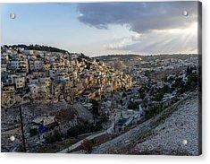Heaven Shines On The City Of David Acrylic Print