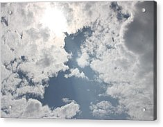 Heavenly Beam Acrylic Print by Christina Martinez
