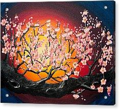 Heavenly Blossoms Acrylic Print by Olga Smith