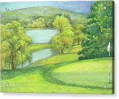 Heavenly Golf Day Landscape Acrylic Print