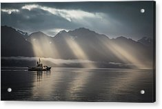 Acrylic Print featuring the photograph Heavenly Light by Eva Lechner