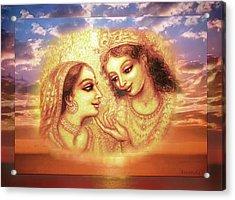 Heavenly Love Acrylic Print by Ananda Vdovic