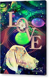 Acrylic Print featuring the digital art Heavenly Love by Kathy Tarochione