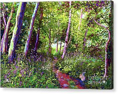 Heavenly Walk Among Birch And Aspen Acrylic Print
