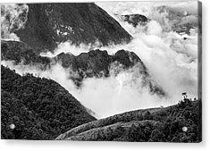 Acrylic Print featuring the photograph Heavens Gate Mountain Landscape, Sapa Vietnam by Michalakis Ppalis